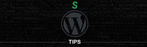 banner do wpisu wordpress tips przedstawiający logo